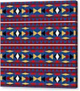 Aztec Blue Pattern Canvas Print