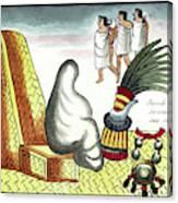 Aztec Burial Ritual Canvas Print