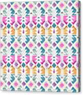 Aztec Inspired Arrow And Geometric Pattern One.jpg Canvas Print