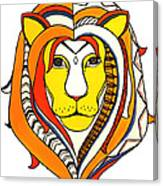 Golden Aztec Lion Canvas Print