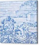 Azulejos Traditional Tiles In Porto Portugal Canvas Print