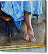Through The Looking Glass- A Vision In Azure, Prelude To A Dance Canvas Print