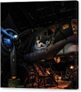 B-17 Exhibit In Hdr Canvas Print