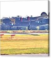 B-24 Landing Canvas Print