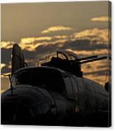 B-25 Sunset Canvas Print