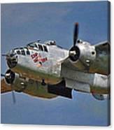 B-25 Take-off Time 3748 Canvas Print