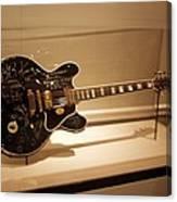 B B King Guitar Canvas Print