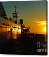 B C Ferries Sunsets Sc3417-13 Canvas Print