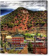 B Hill Over Historic Bisbee Canvas Print