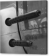 B17 Bomber Side Guns Canvas Print