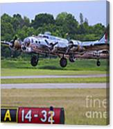 B17 Bomber Taking Off Canvas Print