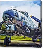 B17 Bomber Yankee Lady Canvas Print