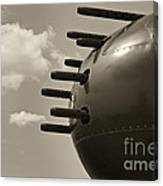 B25 Mitchell Bomber Airplane Nose Guns Canvas Print