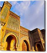 Bab Mansour In Meknes In Morocco Canvas Print