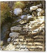 Babbling Brook William Shakespeare Quote Canvas Print