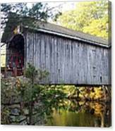 Babbs Covered Bridge In Maine Canvas Print