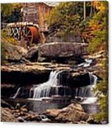Babcock Grist Mill And Falls Canvas Print