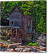 Babcock State Park Paint Canvas Print
