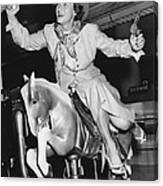 Babe Didrikson On Sidesaddle Canvas Print