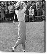 Babe Didrikson Teeing Off Canvas Print