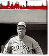 Babe Ruth As Member Of The Boston Red Sox National Photo Company Collection 1919-2013 Canvas Print