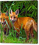 Babes In The Woods Impasto Canvas Print