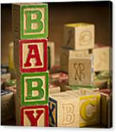 Baby Blocks Canvas Print