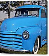 Baby Blue Chevy From 1950 Canvas Print