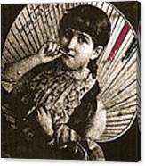 Baby Face Homage 1933 Sepia Variation 2 Virginia City Montana 1971 Canvas Print
