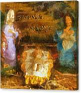 Baby Jesus Silent Night Photo Art Canvas Print