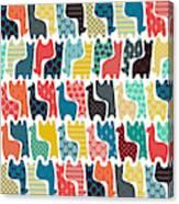Baby Llamas Canvas Print
