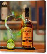 Bacardi And Lime In Love Canvas Print