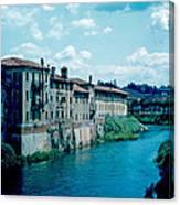 Bacchiglione in Vicenza 1962 Canvas Print