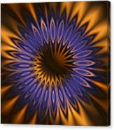 Bachelor Button Mandala Canvas Print