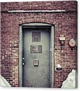 Back Door Alley Way Canvas Print