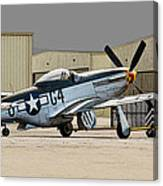 Back Into The Hangar Canvas Print