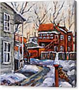 Back Lanes 02 Montreal By Prankearts Canvas Print