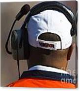 Back Of Mike London Head With Headset Virginia Cavaliers Canvas Print
