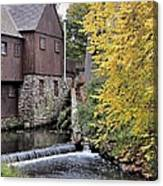 Back Of The Plimoth Grist Mill  Canvas Print