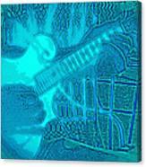 Back Porch Pickin' Pop Art In Blue Canvas Print