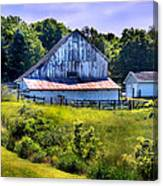 Back Roads Country Barn Canvas Print