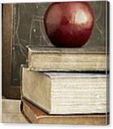 Back To School Apple For Teacher Canvas Print