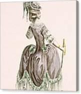 Back View Of Ladys Grey Promenade Canvas Print