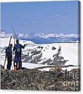 Backcountry Skiers Canvas Print