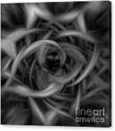 Background Flames Bw Dark Canvas Print