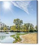 Backlighting River Landscape Canvas Print