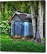 Backyard Barn Canvas Print