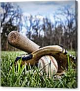 Backyard Baseball Memories Canvas Print