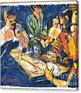 Backyard Bid Whiss By Summer Night Light Canvas Print