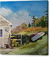 Backyard Boats Canvas Print